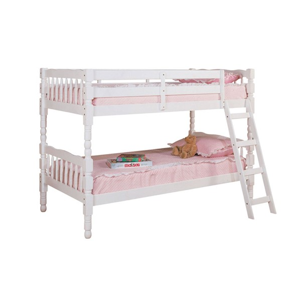 Acme Furniture Homestead White Twin over Twin Bunk Bed ACM-02298