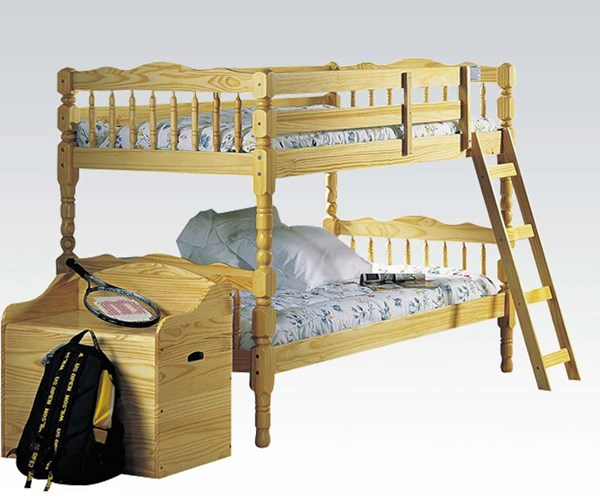 Homestead Natural Wood Twin/Twin Bunk Bed ACM-02299