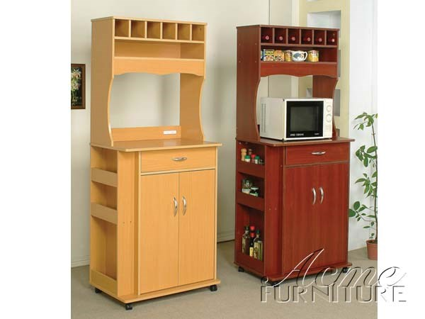 Sterling Cherry Kitchen Cart 02325 By Acme   The Classy Home