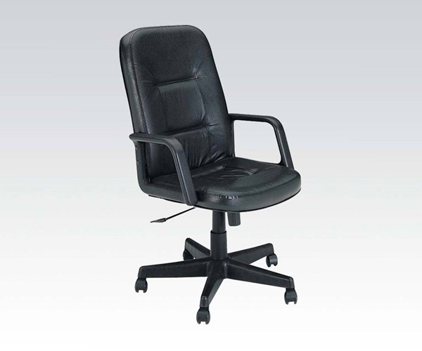 Andrew Black Bonded Leather Nylon Office Chair W/Pneumatic Lift ACM-02339