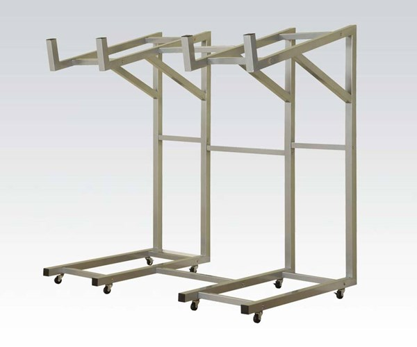 Silver Metal Display Rack For Sofa W/Wheels ACM-02350
