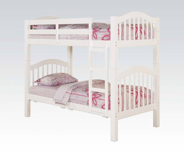 Acme Furniture Heartland White Twin Over Twin Bunk Bed ACM-02354