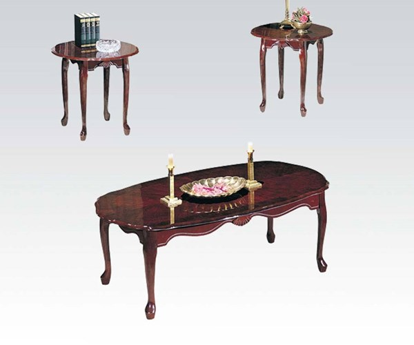 Essex Cherry Wood 3pc Coffee/End Table Set ACM-02402