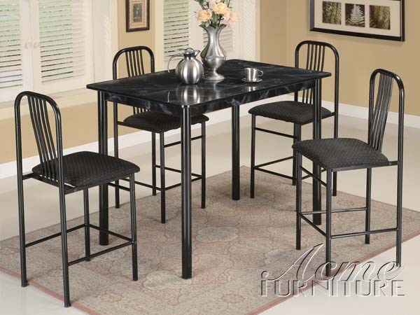 Hudson Hudson 5 Pack Counter Height Table By Acme 02403/04BK ACM-02403-04BK