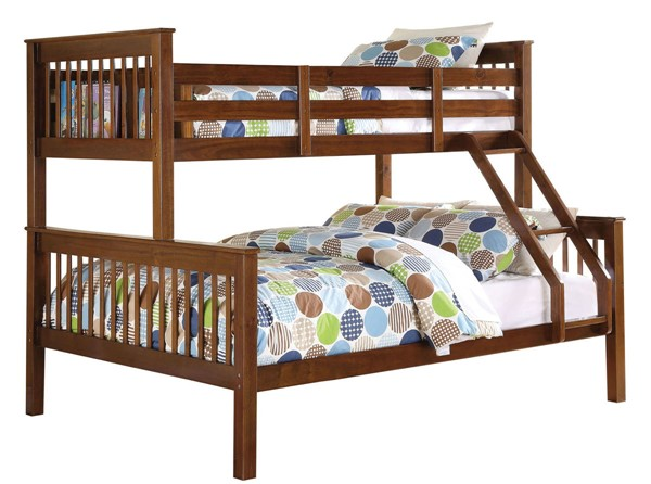 Acme Furniture Haley Walnut Twin over Full Bunk Bed ACM-02417