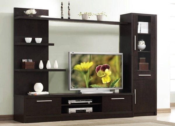 Malloy Espresso Wood Entertainment Center W/6 Shelves ACM-02475-ENT