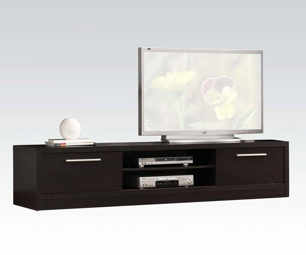 Malloy Espresso Wood TV Stand W/2 Drawers & Shelves ACM-02475