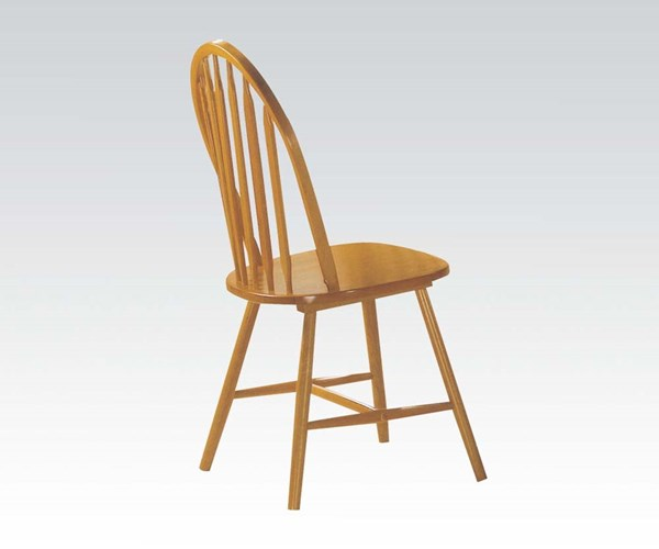 4 Farmhouse Oak Wood Solid Seat Side Chairs ACM-02482OAK