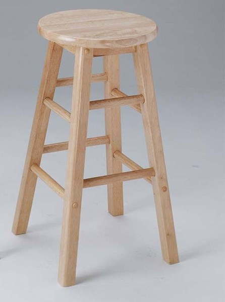 2 Metro Natural Wood Foot Rest Bar Stools ACM-02738N