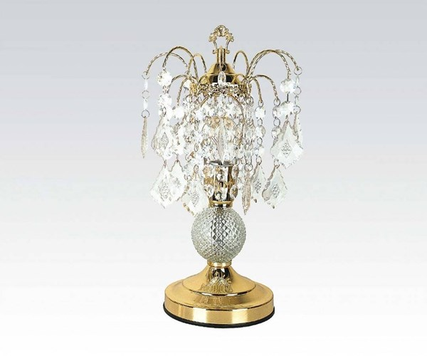 2 Acme Furniture Chandelier Gold Glass Table Lamps ACM-03152A