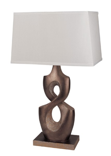 2 Acme Furniture Montbelle White Brown Table Lamps ACM-03182