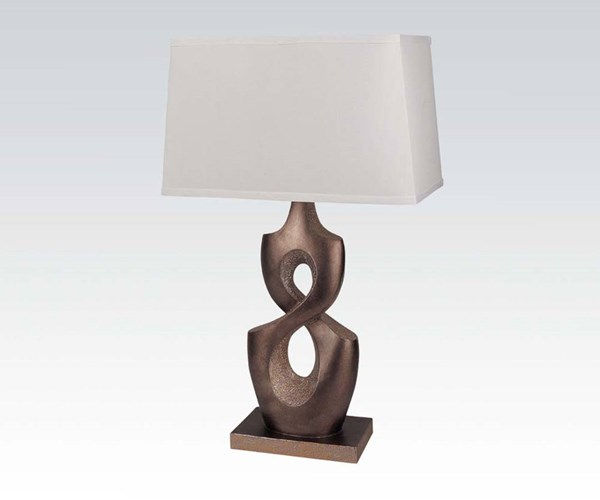 2 Copper Rectangle Table Lamps W/100 Watts Max Bulb ACM-03182