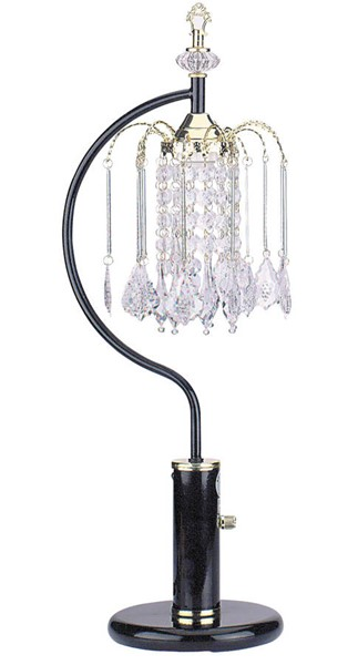 Acme Furniture Chandelier Black Table Lamp ACM-03720BK