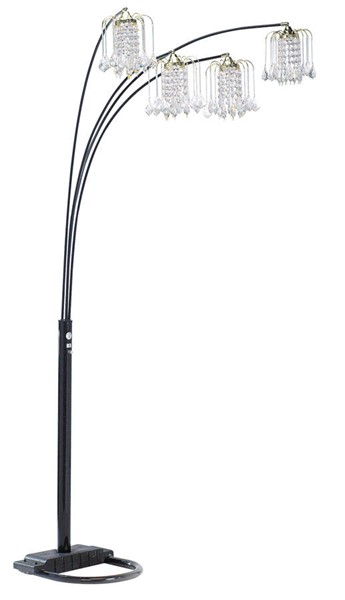 Acme Furniture Chandelier Black 4 Cap Floor Lamp ACM-03730