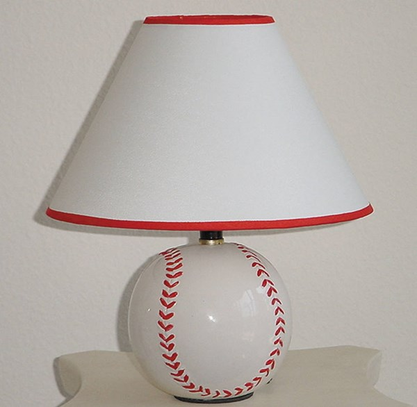 8 All Star Red White Ceramic Table Lamps ACM-03871