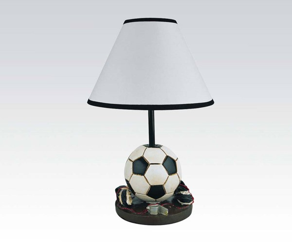 2 All Star Table Lamps w/Black White Ball ACM-03874