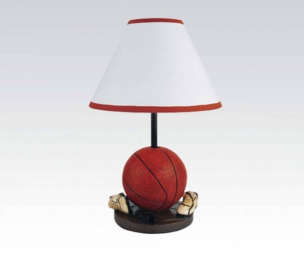 2 All Star Red White Lightning Table Lamps ACM-03876