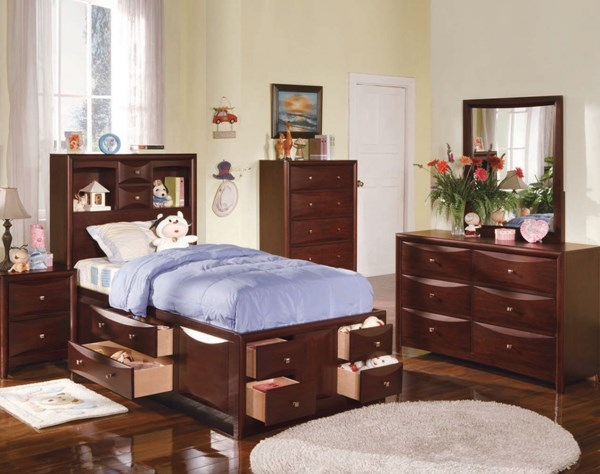 Manhattan Espresso Wood 2pc Master Bedroom Set W/Full Size Bed ACM-04064S4