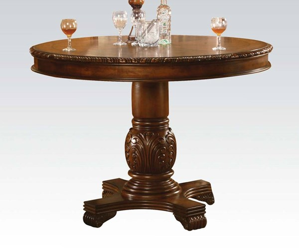Chateau De Ville Transitional Cherry Wood Counter Height Table ACM-04082