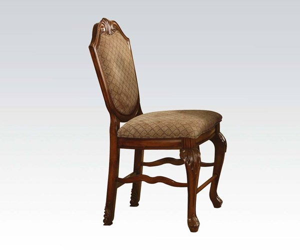 2 Chateau De Ville Cherry Wood Fabric Counter Height Chairs ACM-04084