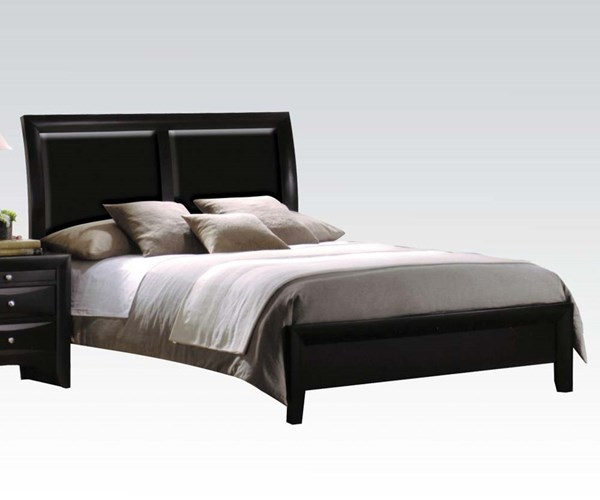 Ireland Contemporary Black PU Wood King Bed ACM-04152EK