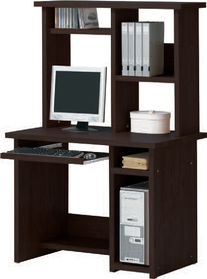 Linda Espresso Wood Computer Hutch W/shelves ACM-04691