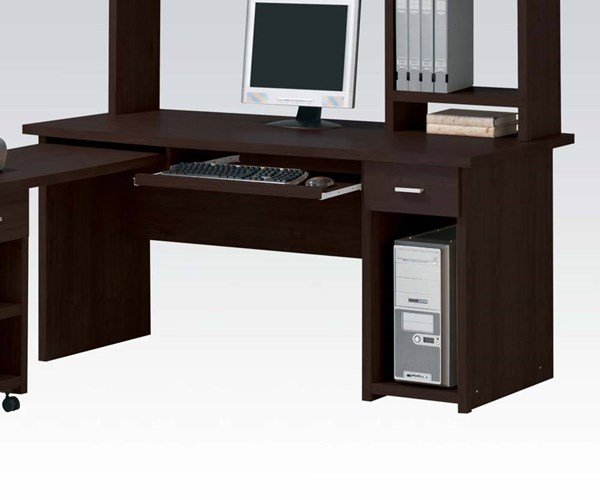 Linda Espresso Wood Rectangle Computer Desk ACM-04692