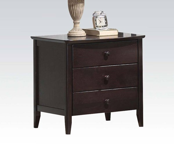 San Marino Transitional Wood 3 Drawers Nightstands ACM-04997-NS-VAR