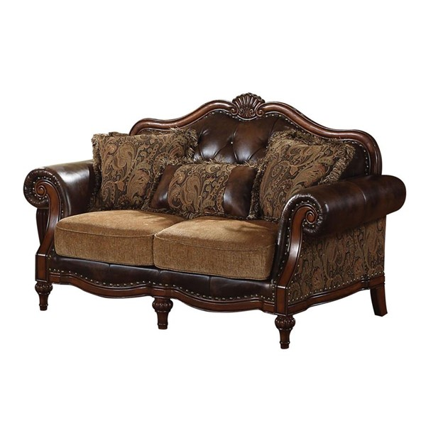 Acme Furniture Dreena Chenille Loveseat with Three Pillows ACM-05496