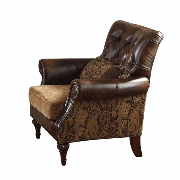 Acme Furniture Dreena Chenille Chair with Pillow ACM-05497