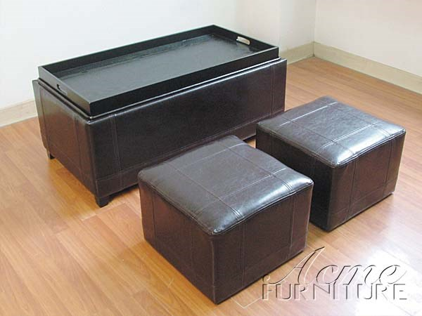 3Pc Pack Ottoman (05659) By Acme 05659 ACM-05659