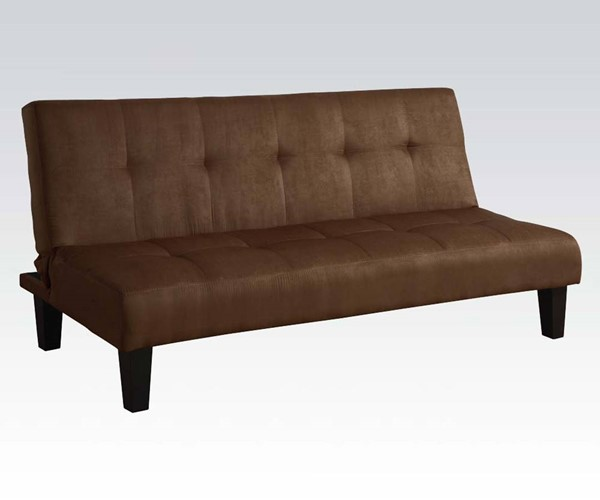Emmet Chocolate Fabric Wood Adjustable Sofa ACM-05674