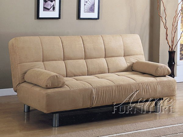 Lakeland Beige Microfiber Adjustable Sofa ACM-05855