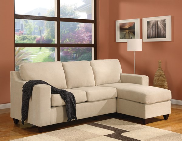 Acme Furniture Vogue Beige Reversible Chaise Sectional ACM-05913