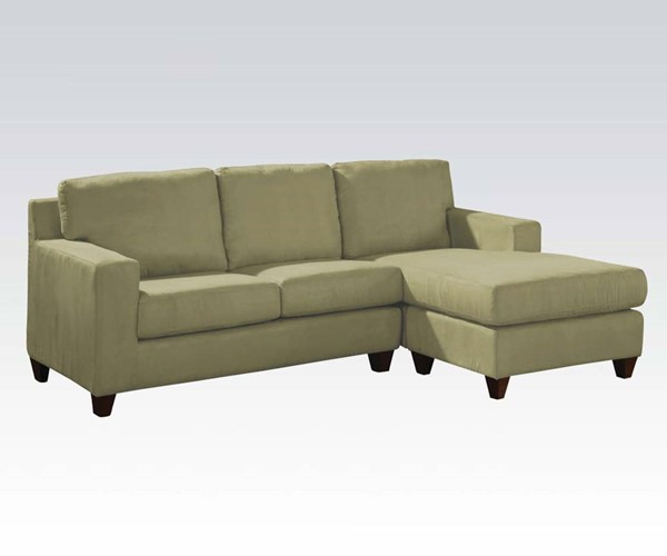 Acme Furniture Vogue Sage Reversible Chaise Sectional