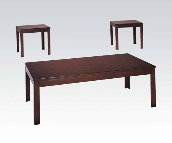 Java Cherry Wood 3Pc Pack Coffee/End Table Set ACM-06174