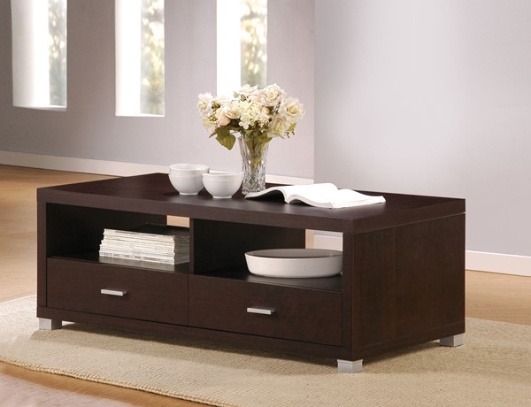 Acme Furniture Redland Espresso Coffee Table with Two Drawer ACM-06612