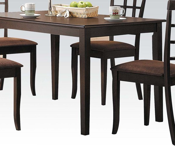 Cardiff Espresso Wood Solid Top Dining Table ACM-06850