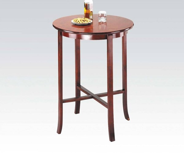 Chelsea Cherry Wood Round Bar Table W/Solid Top ACM-07195
