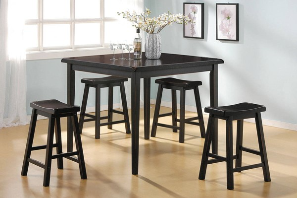 Gaucho Black Wood 5Pc Pack Counter Height Set ACM-07288