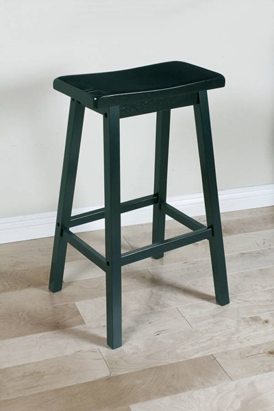 2 Gaucho Standard Black Wood Counter Height/Bar Stools ACM-07308