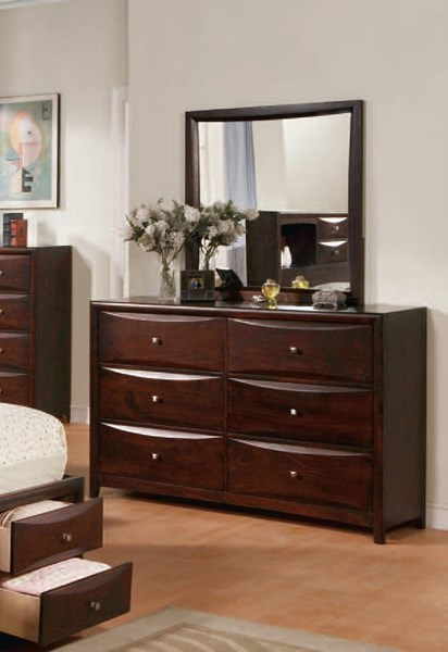 Manhattan/Zero Transitional Espresso Wood Mirror ACM-07404