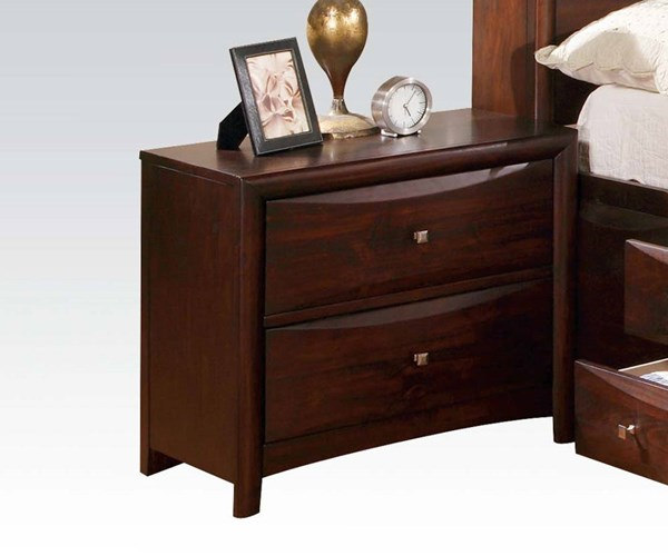 Manhattan Transitional Espresso Wood Oversized Night Stand ACM-07408
