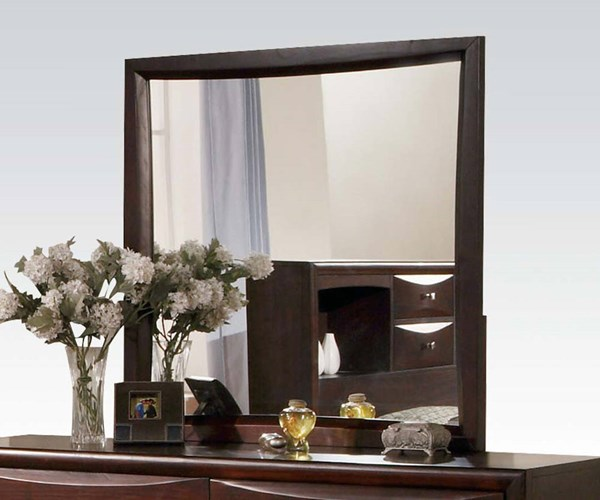 Manhattan/Zero Transitional Espresso Wood Glass Oversized Mirror ACM-07410