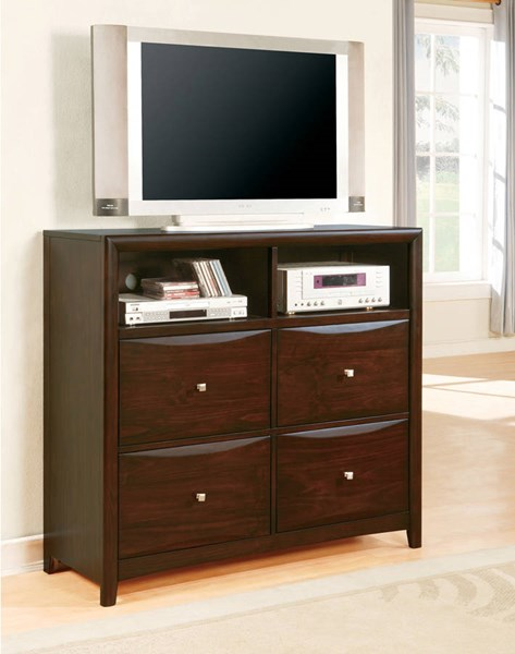 Manhattan/Zero Transitional Espresso Wood TV Console ACM-07411