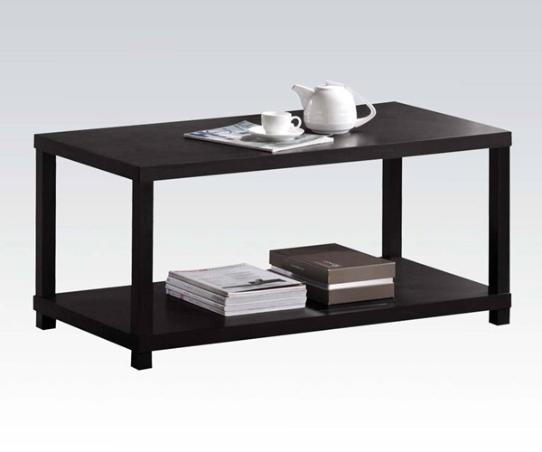 Wei Espresso Wood Rectangle Coffee Table ACM-08276