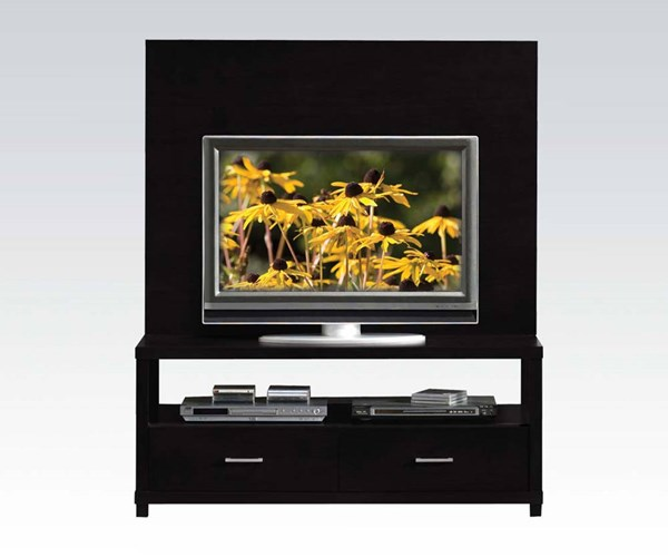 Lowell Espresso Wood Drawers & Consoles TV Stand ACM-08280