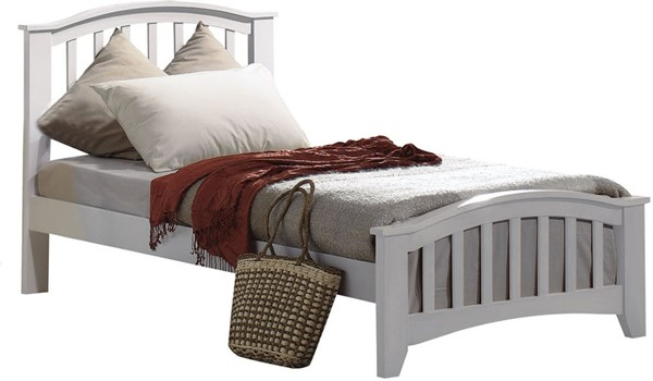 Acme Furniture San Marino White Twin Slat Panel Bed ACM-09150T