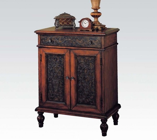 Alameda Cherry Black Wood Drawers Console Table ACM-09203