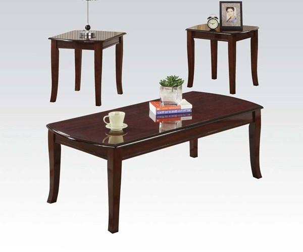 Camarillo Cherry Wood 3Pc Pack Coffee/End Table Set ACM-09301